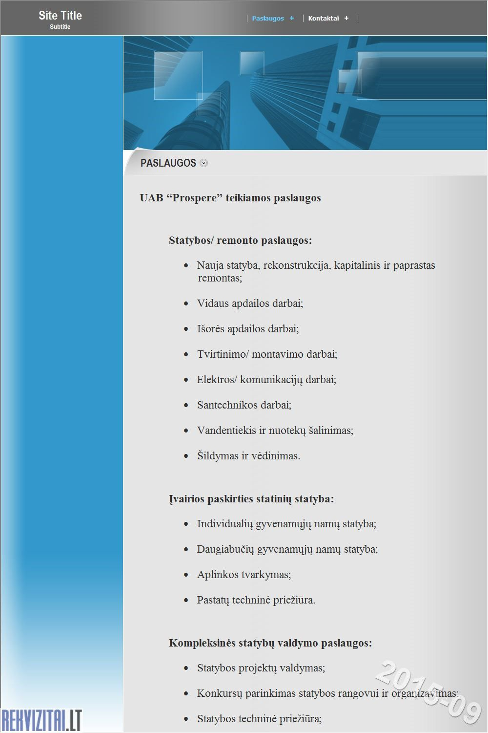 Cement Uab Lt Contact Mail: UAB PROSPERE. Contacts, Map. Rekvizitai.lt