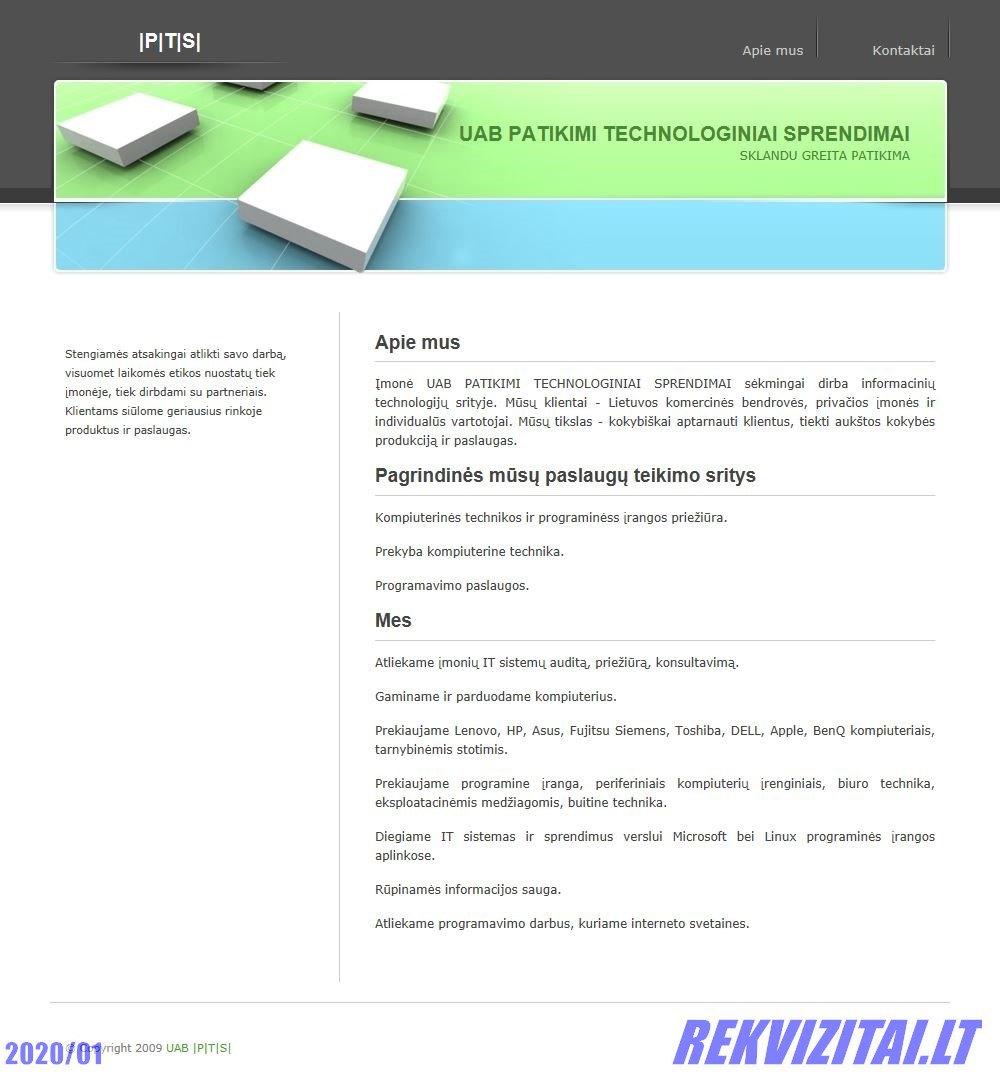 Cement Uab Lt Contact Mail: UAB Patikimi Technologiniai Sprendimai Personnel