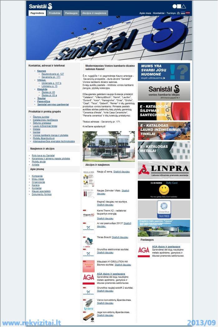 Cement Uab Lt Contact Mail: Sanistal, UAB Turnover, Sales Revenue, Earnings. Rekvizitai.lt
