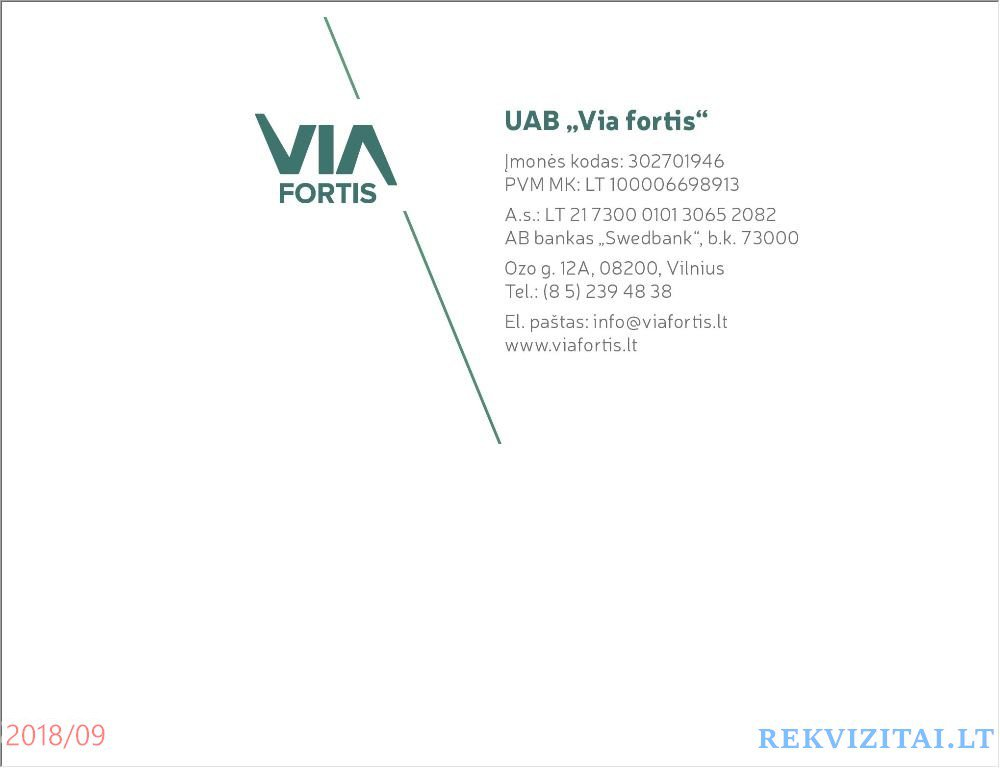 Via fortis, UAB  Contacts, map  Rekvizitai lt