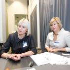 2010 10 13. Iš kairės: Eglė Kesylienė, kalbų nuotraukos