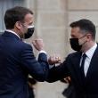 Ukrainos, Prancūzijos ir Vokietijos lyderiai rengia derybas, tvyrant įtampai su Rusija