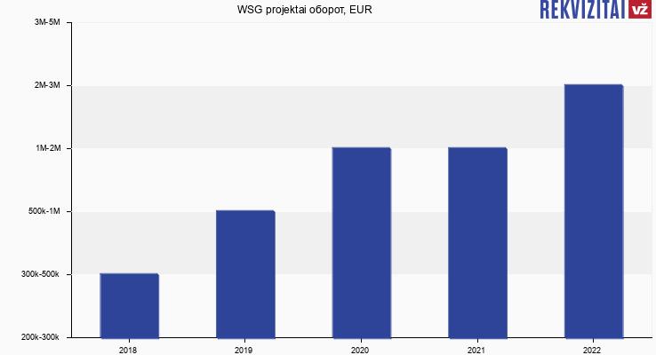 WSG projektai оборот, EUR
