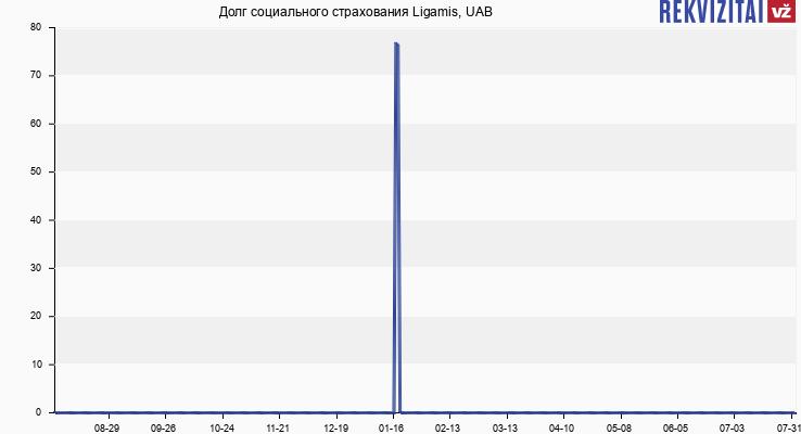 Долг социального страхования Ligamis, UAB