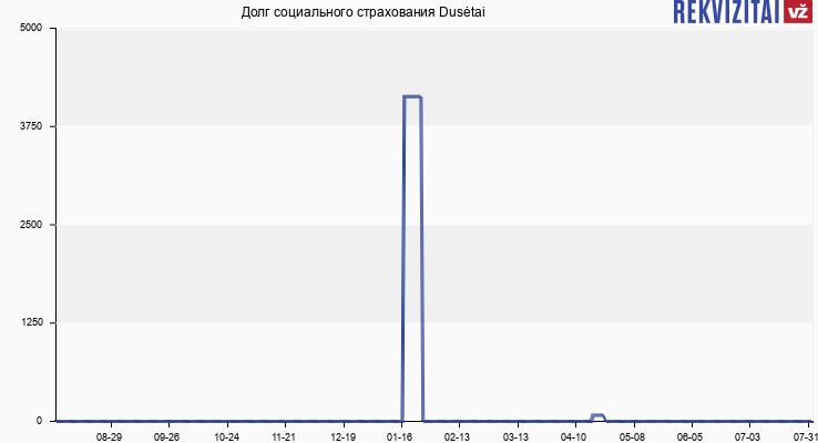 Долг социального страхования Dusėtai