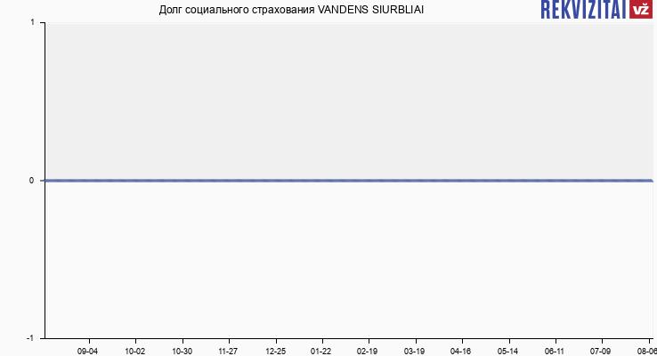 Долг социального страхования VANDENS SIURBLIAI