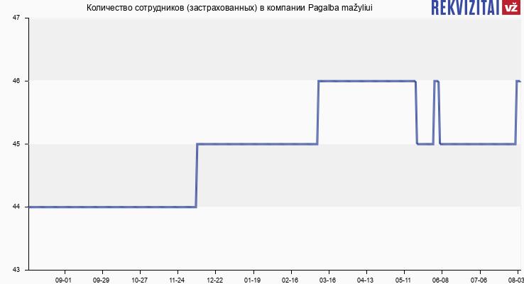 Количество сотрудников (застрахованных) в компании Pagalba mažyliui