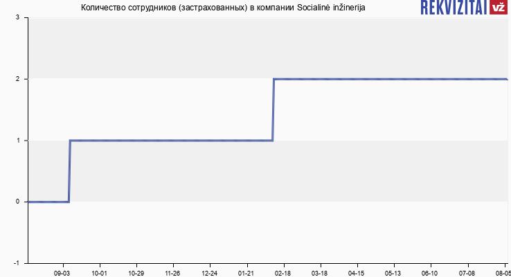 Количество сотрудников (застрахованных) в компании Socialinė inžinerija