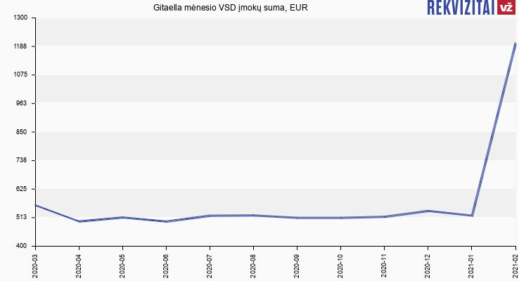 VSD įmokų suma Gitaella