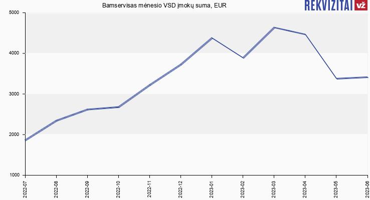 VSD įmokų suma Bamservisas