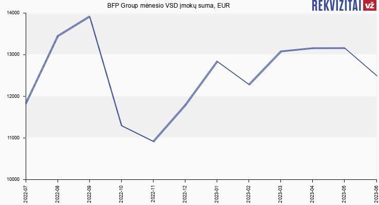 VSD įmokų suma BFP Group