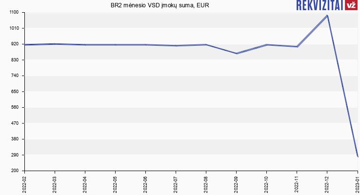 VSD įmokų suma BR2