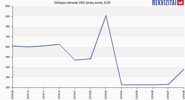 VSD įmokų suma Divingas