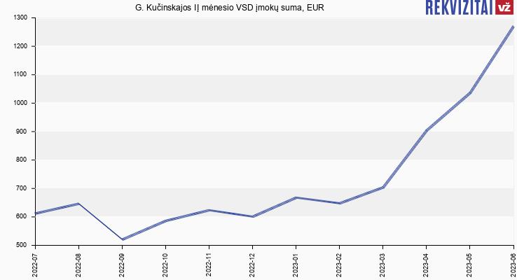 VSD įmokų suma G. Kučinskajos IĮ
