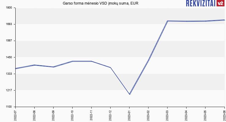 VSD įmokų suma Garso forma