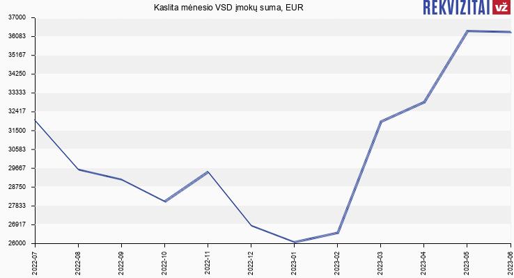 VSD įmokų suma Kaslita