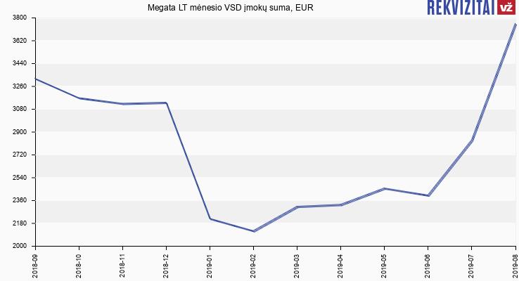 VSD įmokų suma Megata LT