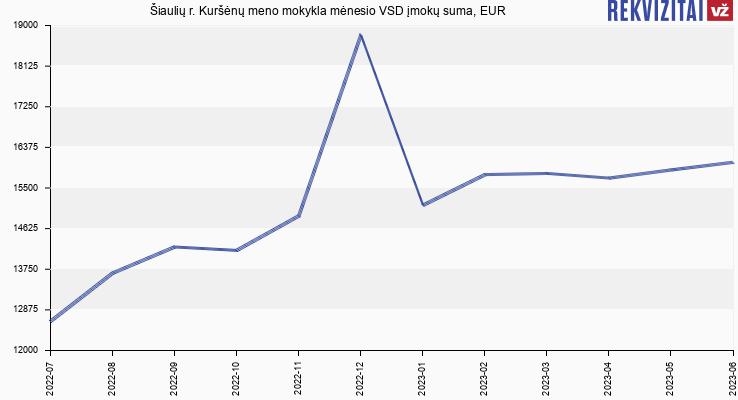 VSD įmokų suma Šiaulių r. Kuršėnų meno mokykla