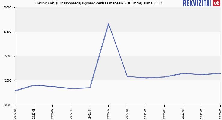 VSD įmokų suma Lietuvos aklųjų ir silpnaregių ugdymo centras