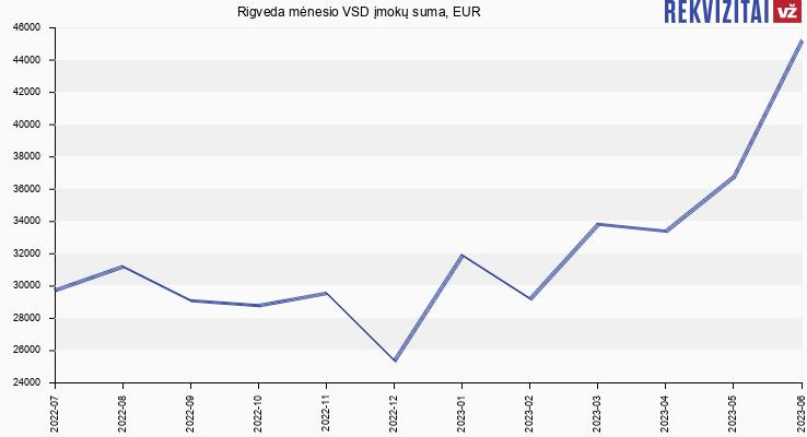 VSD įmokų suma Rigveda
