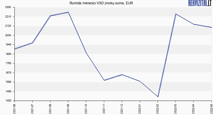 VSD įmokų suma Rumida