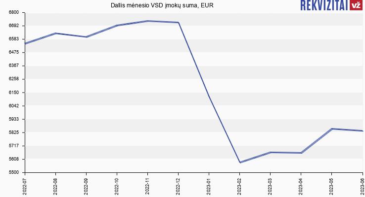 VSD įmokų suma Dallis