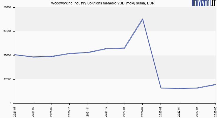 VSD įmokų suma Woodworking Industry Solutions